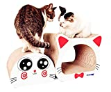 爪とぎ 爪研ぎ ねこ ベッド ダンボールハウス 猫タワー つめとぎ 高密度段ボール 耐久性 猫 ダンボール おもちゃ 収納簡単 ストレス解消 猫ちゃん大喜び(白)