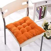 椅子 クッション シートパッド シートクッション 屋外 ダイニング ガーデン 装飾 全9色 - オレンジ
