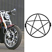 """KATUR KaTur 6.3"""" オートバイメタルメッシュグリルヘッドライトメッシュプロテクターガードカバー"""