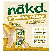 Nakd小麦&乳製品フリーのバナナのパンマルチパック4×30グラム (x 4) - Nakd Wheat & Dairy Free Banana Bread Multipack 4 x 30g (Pack of 4) [並行輸入品]