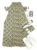 節句に 男の子 袴 5歳 金襴袴・小物7点セット 紐下丈 60cm「グレー 鳳凰」THB60-1702