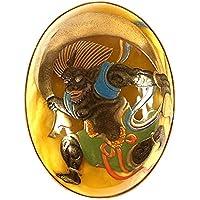 ロイヤルアンバー 琥珀 ネックレス ペンダント ブローチ 蒔絵 風神 K18 俵屋宗達 風神雷神図 商品番号 128