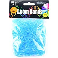 Gel Loom Bands Value Pack 500 Bands & 25 Clips/Pkg-Turquoise Gel (並行輸入品)