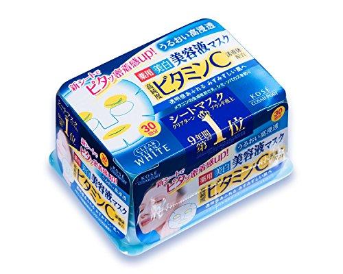 【Amazon.co.jp限定】KOSE コーセー クリアターン エッセンスマスク (ビタミンC) 30回分 リーフレット付 [医薬部外品]