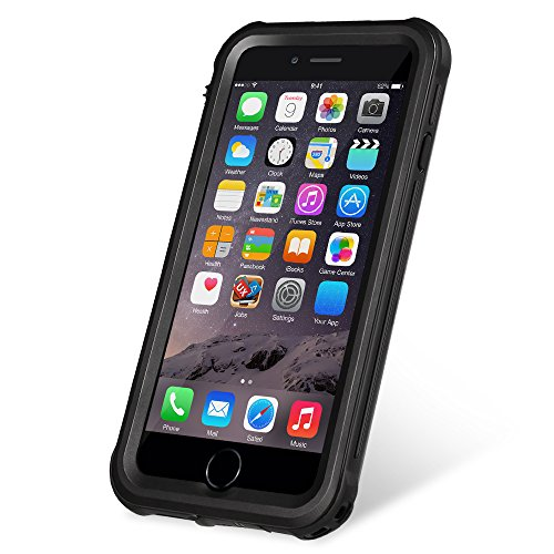 KYOKA 【改良版】iPhone6 iPhone6s 防水ケース 指紋認証対応 防水 耐震 防塵 耐衝撃 IP68 アイフォン6s 防水ケース 防水カバー (改良版iPhone6/6s, ブラック)