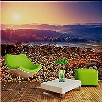 Xbwy ホテルのための注文3D壁画の美しい景色のSeasidの石Tvの背景の壁紙の壁画の自然の壁紙-400X280Cm