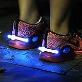 MayAi 夜間ランニング ライト USB充電式 2個セット 長持ち シューズクリップライト LED 赤青緑 ワンタッチ点灯 高輝度 反射発光 事故防止 ジョギングライト 犬の散歩 クラブ イベント 納涼祭 コンサート 夜道 登山 アウトドア 運動 ウォーキング 自転車 LED ライト シュークリッパー