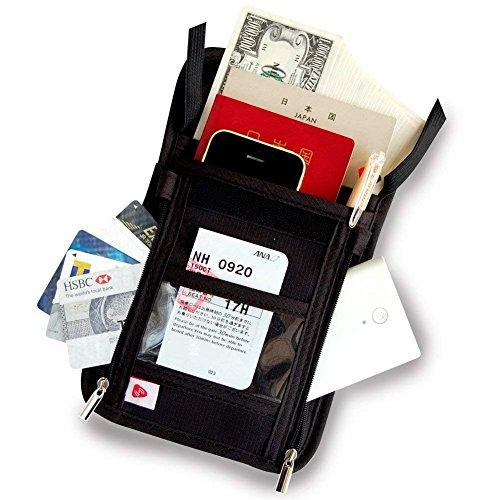 SmartTravel パスポートケース 首下げ スキミング防...
