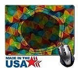 MSD天然ゴムマウスパッド/マットwithステッチエッジ9.8X 7.9レトロジオメトリ形状のパターンカラフルなモザイクバナーイメージ26508649
