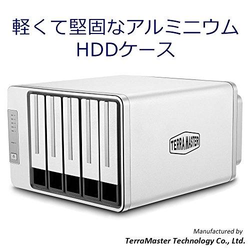 TerraMaster D5-300CTerraMaster D5-300C 5ベイHDDケースRAID 0/1/Single Type C USB3.0(5Gbps) RAIDストレージ