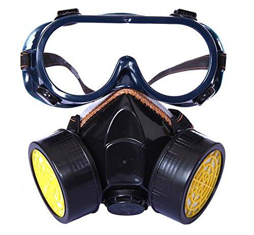 Walant 塗装マスク 塗装作業用 防塵マスク 活性炭 フィルター式 コスプレマスク 半面形面体 粉塵 PM2.5 有機ガス カート (マスク&ゴーグル イェロー)