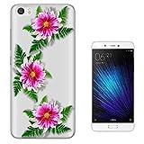 c00542 - Three Pink Flowers Tropical Island Exotic Design Xiaomi Mi 5s Gel ファッショントレンド スマートフォンケース カバー