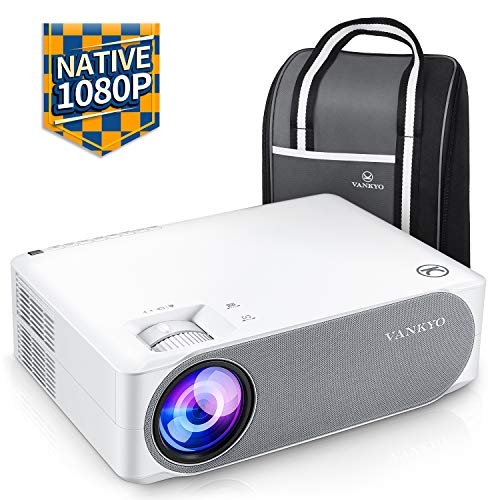 "VANKYO V630 1080PフルHDプロジェクター 6500ルーメン LED ±45°デジタル台形補正 1920×1080ネイティブ解像度 4K対応 TV Stick/HDMI/X-Box/Laptop/iPhone/ゲーム機に対応 300""大画面 ビジネス/ホームシアターに適用"