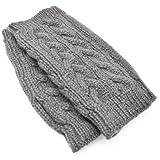 [ソリッド]solid スマホも使える アームウォーマー 手袋 ショート 15cm ハンドウォーマー グローブ ロング ライトグ