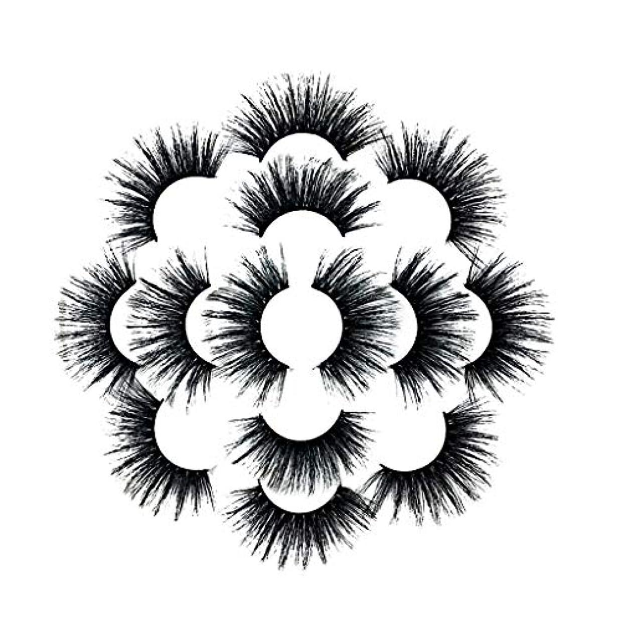 失効反論ルーム7ペアラグジュアリー8D Falseまつげふわふわストリップまつげロングナチュラルパーティー