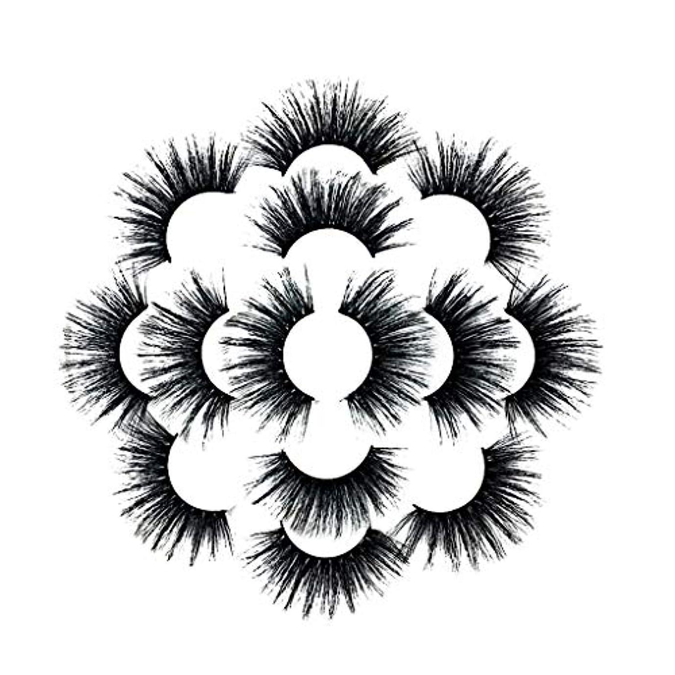 折クレーン砂7ペアラグジュアリー8D Falseまつげふわふわストリップまつげロングナチュラルパーティー