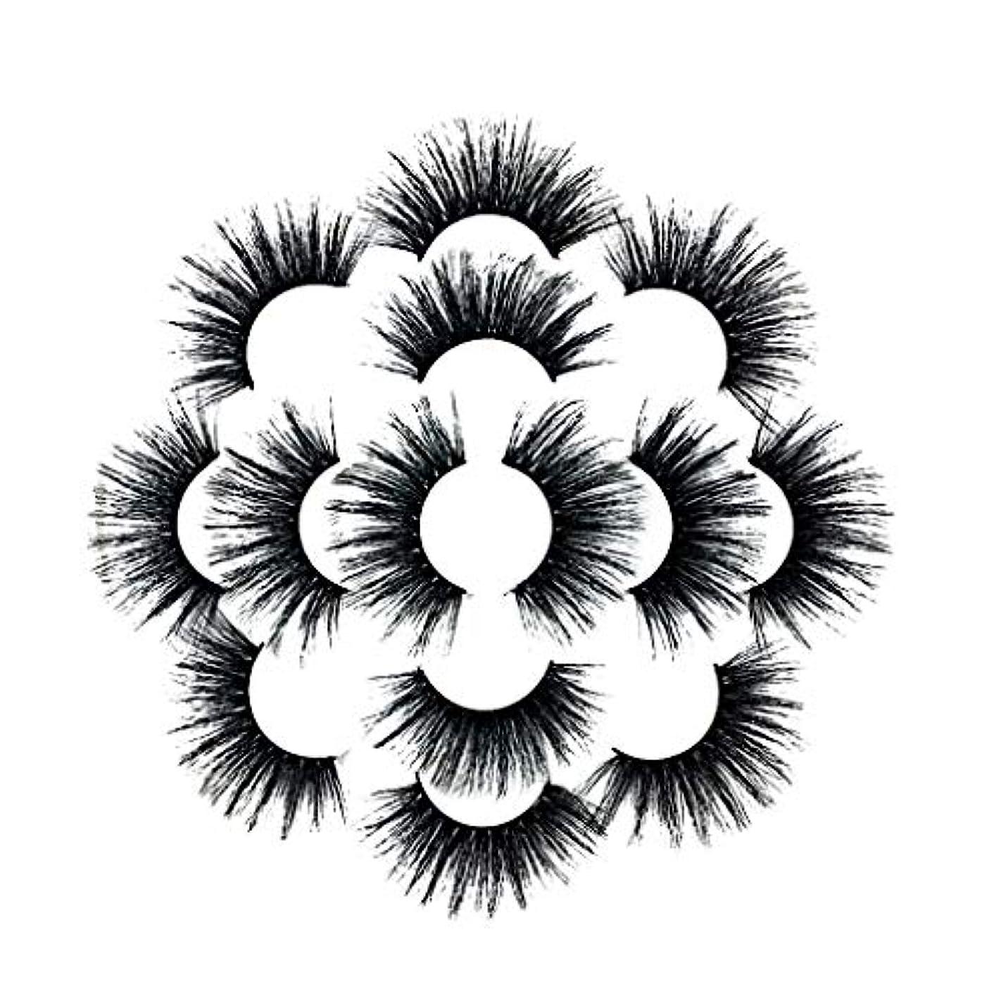 ボウル尊敬するタクト7ペアラグジュアリー8D Falseまつげふわふわストリップまつげロングナチュラルパーティー