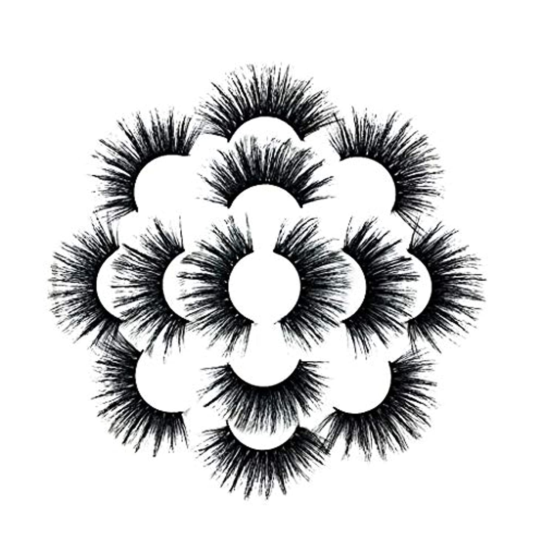 マトンパパ必需品7ペアラグジュアリー8D Falseまつげふわふわストリップまつげロングナチュラルパーティー