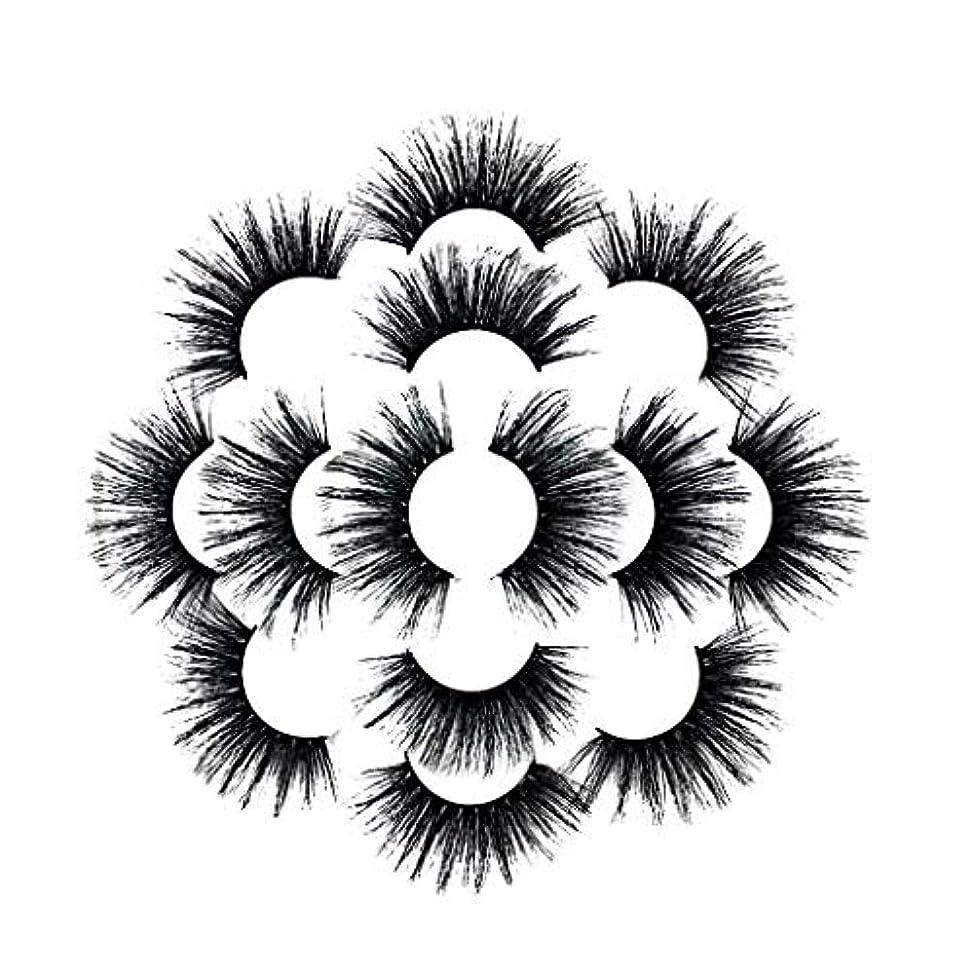 伝染病目的組7ペアラグジュアリー8D Falseまつげふわふわストリップまつげロングナチュラルパーティー