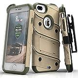 Zizo Bolt Case For iPhone 7 Plus プラス ボルト ケース 耐衝撃 スタンド付き 強化ガラス 極薄 0.33mm 硬度 9H 液晶 保護フィルム 付属 7 / 6 / 6s Plus プラス 対応 【正規代理店品 】 デザートタン/カモグリーン