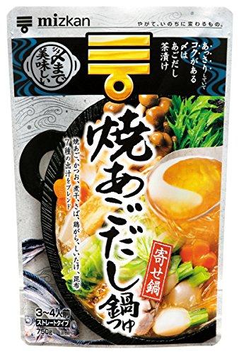 ミツカン 〆まで美味しい焼あごだし鍋つゆ ストレート(750g)