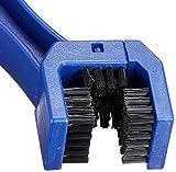 AZ(エーゼット) バイク用 3面チェーンブラシ バイクチェーンの掃除に最適(KD054) 画像