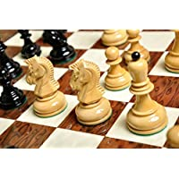 The Dubrovnik Series Chess Set - 3.75 King - Black & Natural Lacquered by