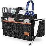 Bedside Caddy, Bed Pockets, TERSELY Bed Organiser Pocket Felt Hanging Storage Bag with Tissue Box and Water Bottle Holder, Do