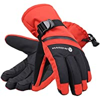 AndorraメンズC - 100 Cross Country Textured Touchscreen Glove w /ファスナー付きポケット