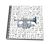 (8x8 drawing book) - PS Vintage - Vintage Music Trumpet with song - Drawing Book
