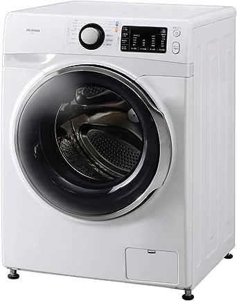 アイリスオーヤマ ドラム式洗濯機 温水洗浄機能付き 左開き 幅595mm 奥行672mm 7.5kg FL71-W/W