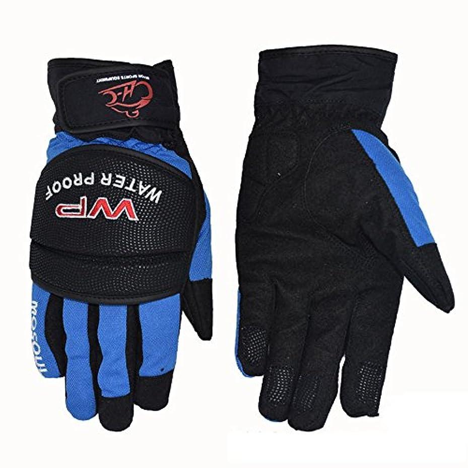 もっと回想周波数快適 保護バイク用手袋 自転車 マウンテンバイク 男性手袋 に適用する バイク 自転車 レーシング (色 : 青, サイズ : XL)