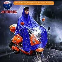 Waterproof Motorcycle Raincoat Mobility Scooter Large Rain Coat Cape Poncho PVC