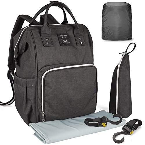 WandF マザーズバッグ ママバッグ 超軽量 ベビー用品収納バッグ おむつシート ベビーカーフック付き