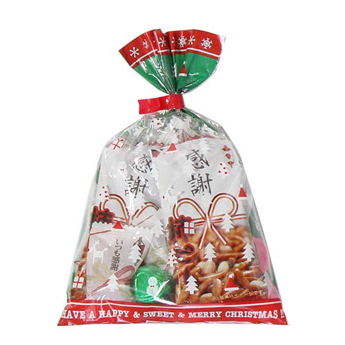 クリスマス袋 5袋 感謝尽くし お菓子袋詰め合わせ(Jセット) 駄菓子 袋詰め おかしのマーチ