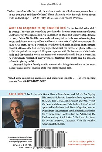 beautiful boy and tweak essay In this book i think that david sheff lays down a great visual into the life of his son nic he tells us how brilliant nic is, that nic has a great imagination and.