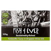 Fish 4 Ever Yellowfin Tuna in Organic Olive Oil (120g) オーガニックオリーブオイルの魚4今までにキハダマグロ( 120グラム)