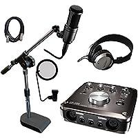 TASCAM US-366-CU audio-technicaコンデンサーマイク AT2020付き タスカム ボーカル録音セット