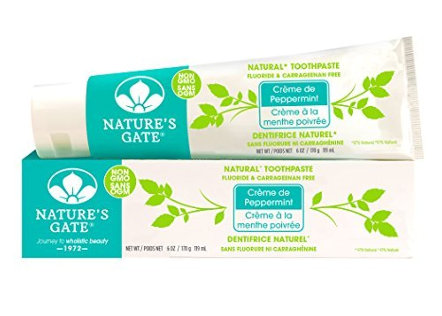 Nature's Gate Natural Toothpaste, Creme de Peppermint, 6-Ounce Tubes (Pack of 6) by Nature's Gate [並行輸入品]