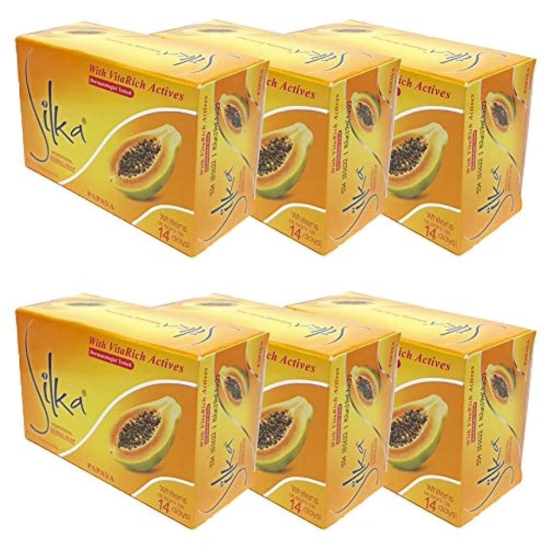 傾向見ました告白シルカ パパイヤソープ 135g Silka Papaya Soap (6個セット)