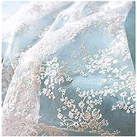 IRIZ130*90cm メッシュレースファブリック花柄刺繍 生地生布 (Pattern D)
