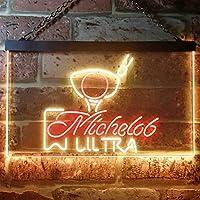 Michelob Ultra Golf Ball LED看板 ネオンサイン バーライト 電飾 ビールバー 広告用標識 レッド+イエロー W40cm x H30cm