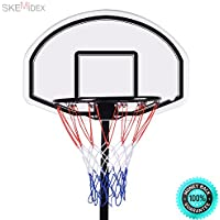 skemidex - 6.7 ' Backboardバスケットボールフープセット/スタンド調節可能なポータブルW/Wheels Play Your Favoriteスポーツの時間右in Your Houseまたは裏庭。頑丈なアイアンベースと構造。