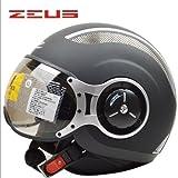 ZEUS 218Cバイクヘルメット ジェットタイプ オープンフェイスヘルメット期間限定、送料無料 男女兼用 メンズ レディース ハーフ パイロット バイクヘルメット シールド付き 安全規格【Lサイズ】グレー