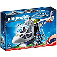 Playmobil 66665 Police Helicopter with Light, Multi-Colour [並行輸入品]