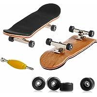 フィンガースケートボード 指スケ フィンガーボード ベアリング入りウィール ガタつかない 指で遊べるミニチュアスケボー…