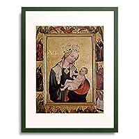 Meister, Tschechischer,um 1420 「Die Madonna mit dem Jesusknaben.」 額装アート作品