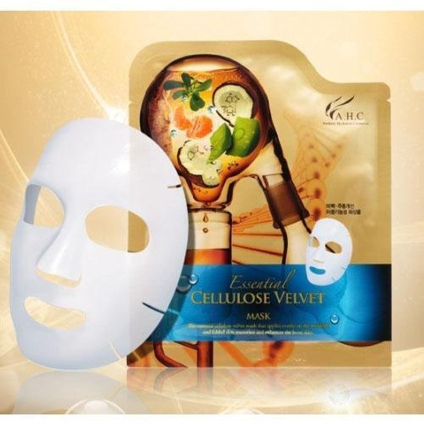 夜明けに動権利を与えるA.H.C Essencial Cellulose Velvet Mask (30g*1EA) [Korean Import]