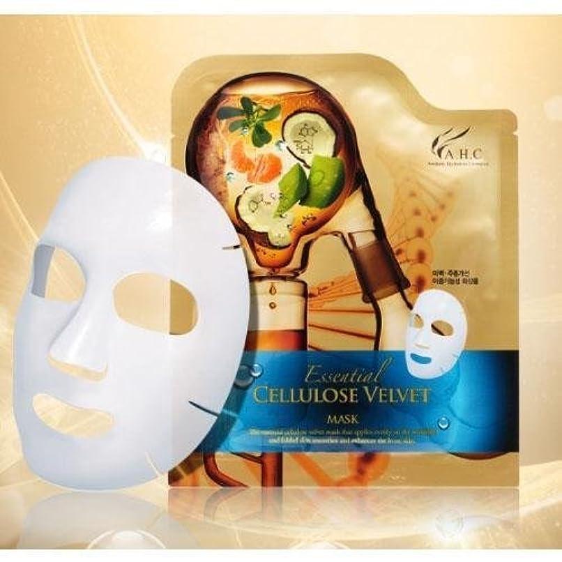 同行モンゴメリー落ち着いてA.H.C Essencial Cellulose Velvet Mask (30g*1EA) [Korean Import]