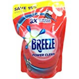 Breeze Liquid Detergent Refill, Power Clean
